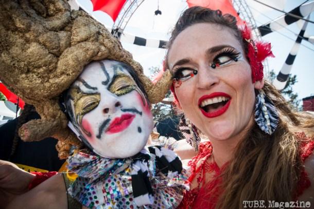 Performers of at the Lagunitas Beer Circus in Petaluma CA 2014.  Photo Melissa Uroff