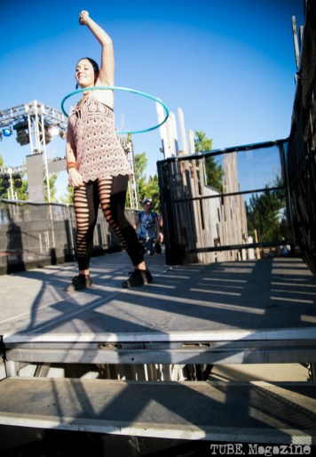 Audrey Dimitri of El Dorado Hills gets down with a hula hoop at Sacramento TBD Fest 2014. Photo Kate Gonzales.