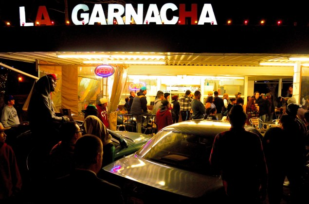 Garnacha Goes Guerilla -- Over 100 packed a midtown mainstay to be a part of the first guerrilla open mics of 2014. Photo: Alexander Amaya