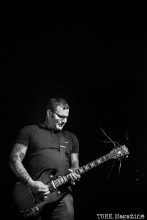 West Lords guitar player, Morgan Harrison, playing at the Blue Lamp in Sacramento CA. August 2014 Photo: Melissa Uroff.