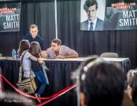 Matt Smith aka The Doctor talking to a small fan