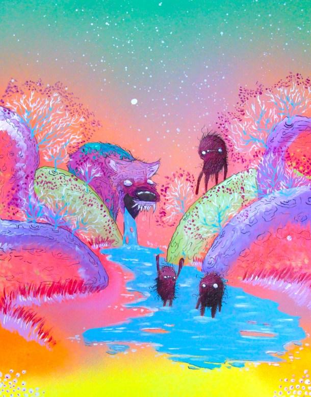 Deep in the Technocolor Valleys. Artist Jared Konopitski.