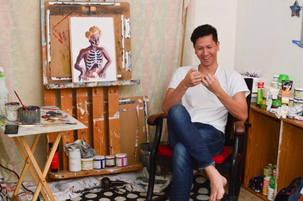 Jim Shepherd in his home studio.