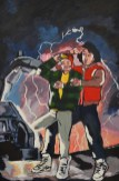 """Bill and Ted travel Back to the Future in style for the March themed art show """"Cinema"""" at the Contemporary Dance Conservatory."""