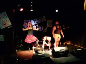 Strong Woman Allyson Seconds and Friends performing at the TUBE. Circus at the Blue Lamp located in Sacramento CA. May 15, 2015. Photo SvenOlai.