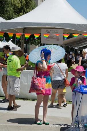 Rainbow and parasols and wigs! Oh my! at Sac Pride 2015, Photo Sarah Elliott
