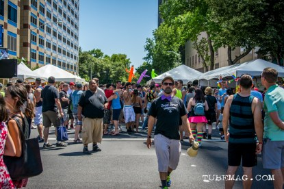 Booths, booths and more booths at Sac Pride 2015, Photo Sarah Elliott