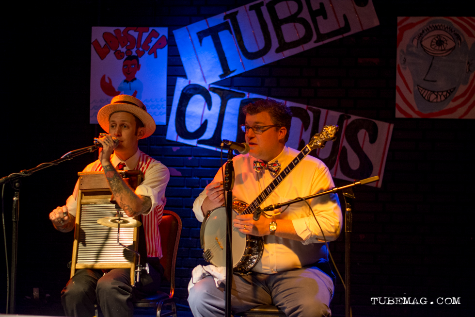 The Freebadge Serenaders playing at the TUBE. Circus on May 15, 2015, at the Blue Lamp in Sacramento CA. Photo Sarah Elliott.