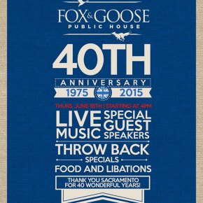 The Fox and Goose is turning 40!