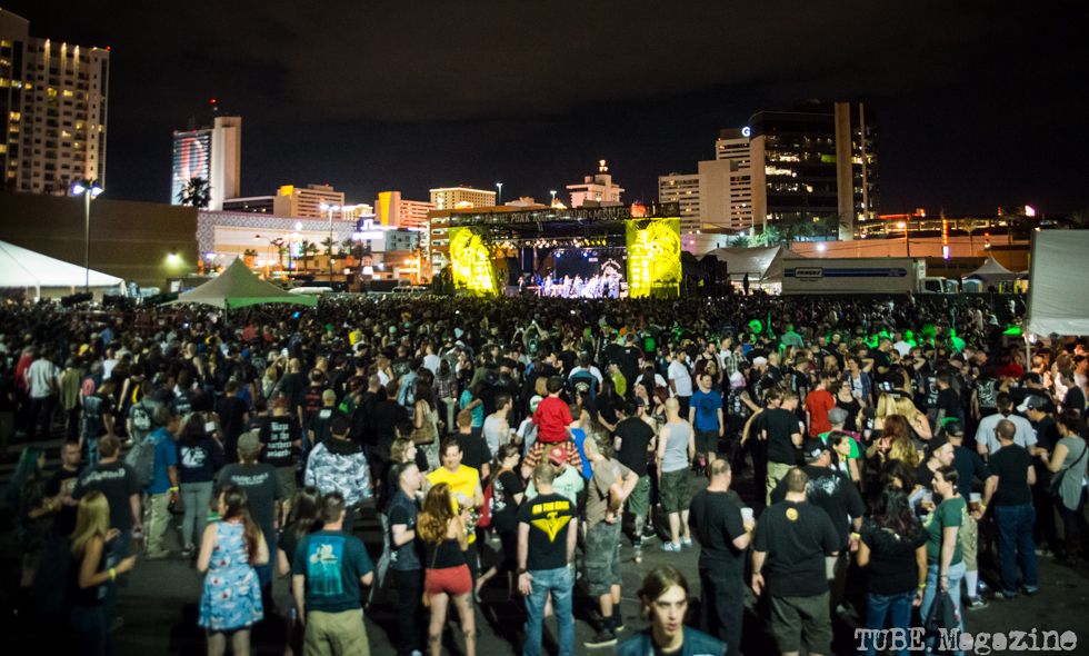 The massive crowd the 17th Annual Punk Rock Bowling Festival in Las Vegas Nevada, May 2015. Photo Melissa Uroff
