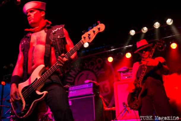 Turbonegro performing at the 17th Annual Punk Rock Bowling Festival in Las Vegas Nevada, May 2015. Photo Melissa Uroff