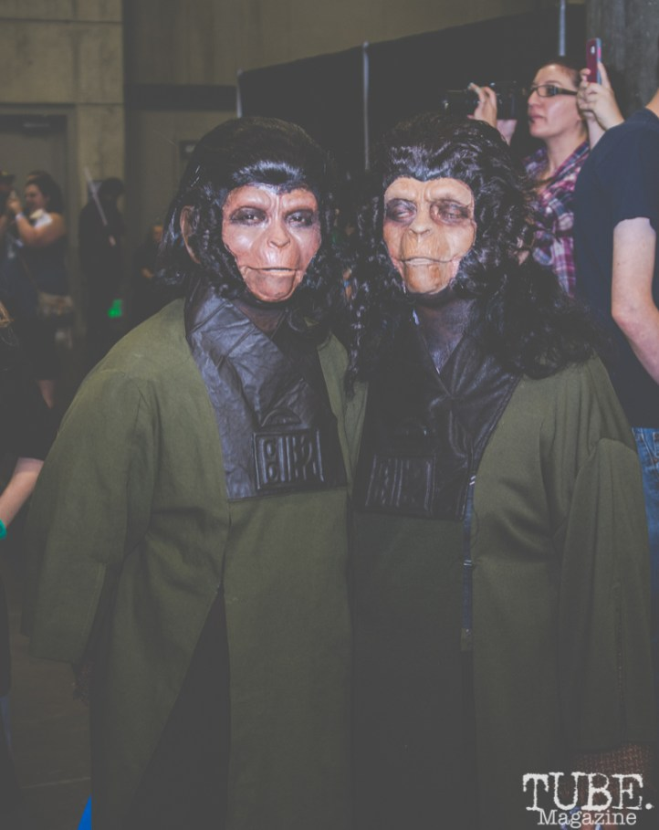 Planet of the Apes Cosplayers. Sacramento Wizard World Comic Con 2015. Photo Sarah Elliott