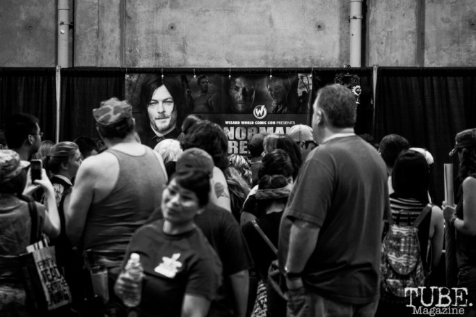 Norman Reedus autograph booth. Sacramento Wizard World Comic Con 2015. Photo Sarah Elliott