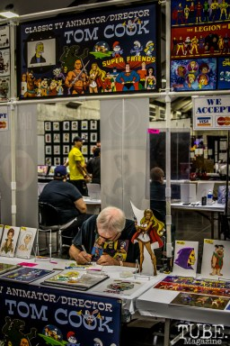 Famous animator/director Tom Cook live drawing. Sacramento Wizard World Comic Con 2015. Photo Sarah Elliott