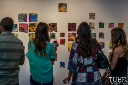 "Beatnik Studios opening reception of ""Some Kind of Accident"" July 10, 2015, downtown Sacramento CA.Artwork featured by Emily Swinsick. Photo Sarah Elliott"