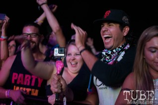 The crowd at Pretty Lights full of excitement at TBD Fest, Sacramento CA. September 2015. Photo Heather Uroff.