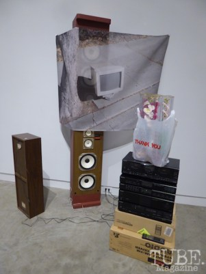Ad Hunc Locum (Complete Audio System), Lucy Puls, 2005. Verge Center of the Arts, Sacramento, CA. Photo Justina Martino