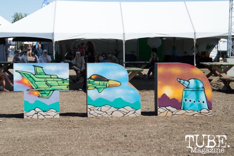 TBD art work at TBD Festival 2015 in Sacramento, Ca. September 2015. Photo Alejandro Montaño