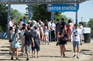 The one and only water station line at TBD Festival in Sacramento, Ca. September 2015. Photo Alejandro Montaño