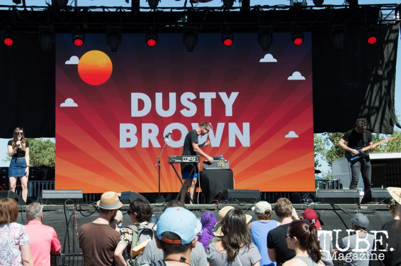Dusty Brown playing on the TBD Stage at TBD Festival in Sacramento, Ca. September 2015. Photo Alejandro Montaño