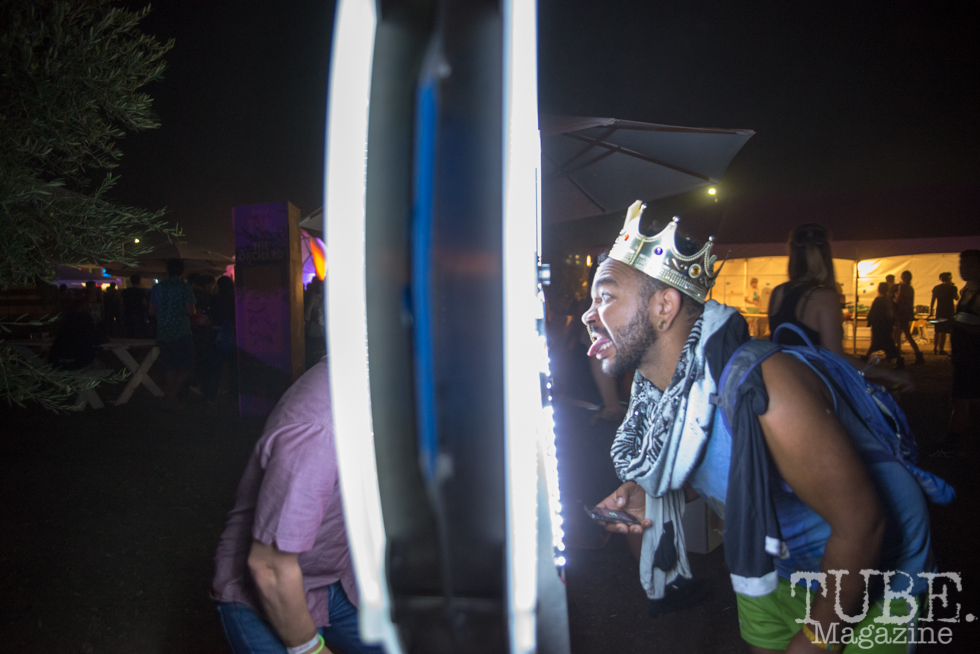 TBD Fest attendees reacting with the art installations. 2015. Photo Melissa Uroff