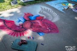 Flying Heart by Billings Art, Chalk It Up, Sacramento 2015, Photo Sarah Elliott