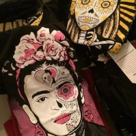 Frida Kahlo and Calevera shirts by Maldicion