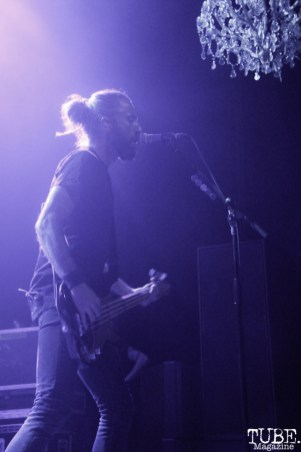 Bassist of Mew, Johan Wohlert, The Fillmore, San Francisco, CA. September 26, 2015. Photo Anouk Nexus