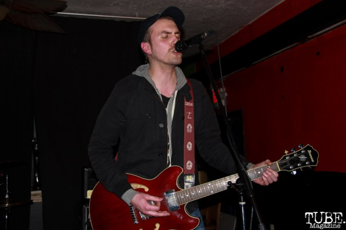 Singer/Guitarist Jeff Sifferman of Coyote Bred, Café Colonial, Sacramento, CA. January 8, 2016. Photo Anouk Nexus