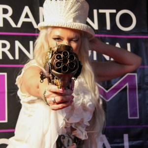 Fashion on Film audience member, Bunny Stewart, at Beatnik Studios, Sacramento, CA.February 24,2016. Photo Anouk Nexus