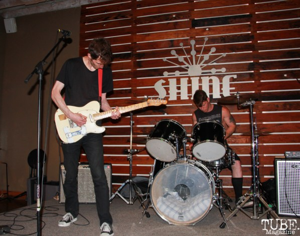 Ian Kashani guitarist/singer and Mike Hell on drums for Ian Kashani, Shine Cafe, Sacramento, CA.March 11,2016. Photo Anouk Nexus