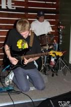 Spencer Rakela guitarist/singer and Geoffery Luoma drummer of Animals in the Attic, Shine Cafe, Sacramento, CA.March 11,2016. Photo Anouk Nexus
