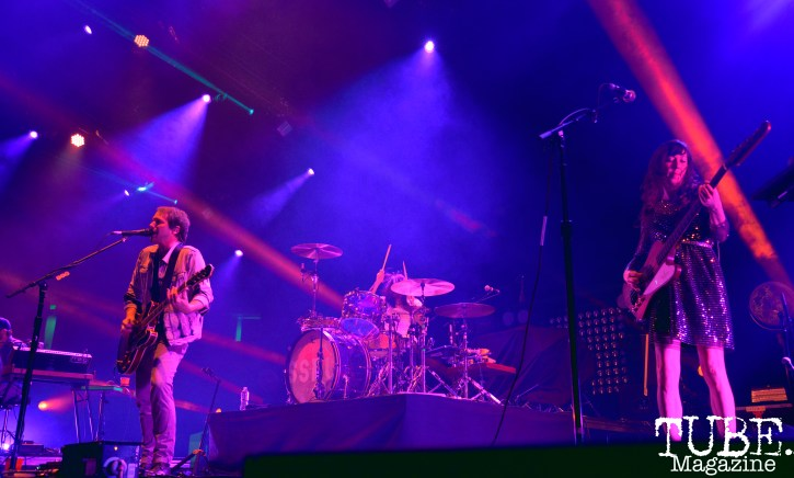 Los Angeles band Silversun Pickups play at Spring Fling Rock AF tour in Sacramento, CA, March 12, 2016.