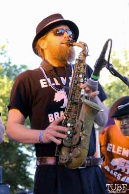 jpg-Saxophonist playing for Element Brass Band, Concerts in the Park, Cesar Chavez Park, Sacramento, CA. May 13, 2016, Photo Anouk Nexus