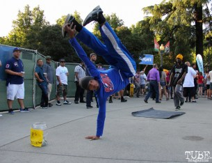 Jimmie Claybrook dancer of the JimNTim dance duo, Concerts in the Park, Cesar Chavez Park, Sacramento, CA. May 27, 2016, Photo Anouk Nexus