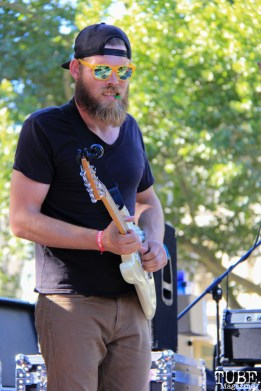 Guitarist of ZFG, Concerts in the Park, Cesar Chavez Park, Sacramento, CA. June 24, 2016. Photo Anouk Nexus