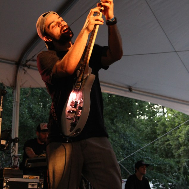 Shane Gann guitarist of Hail the Sun, Concerts in the Park, Cesar Chavez Park, Sacramento, CA. June 3, 2016, Photo Anouk Nexus