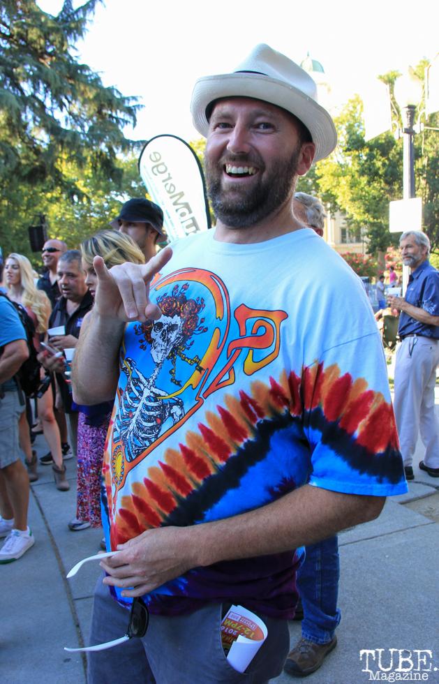 John Klaiber, Audience Member, Concerts in the Park, Cesar Chavez Park, Sacramento, CA. July 8, 2016. Photo Anouk Nexus