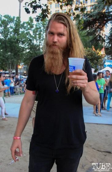 Christian Midthun, Audience Member, Concerts in the Park, Cesar Chavez Park, Sacramento, CA. July 8, 2016. Photo Anouk Nexus