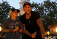 Tyler Rich and Audience Member Jaden, Concerts in the Park, Cesar Chavez Park, Sacramento, CA. July 8, 2016. Photo Anouk Nexus