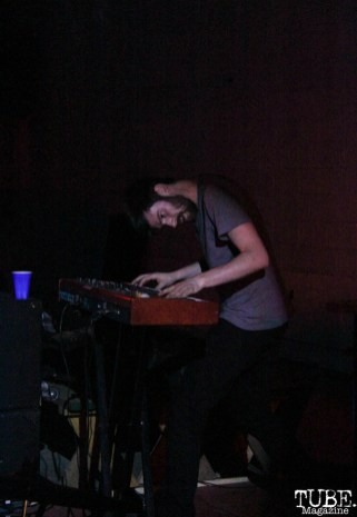 Keyboardist Zach Hake of Separate Spines, Red Museum, Sacramento, CA. July 17, 2016. Photo Anouk Nexus