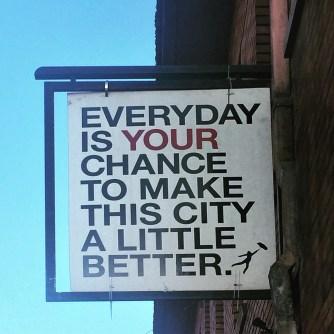 Sign at 1020 J Street, Sacramento, CA