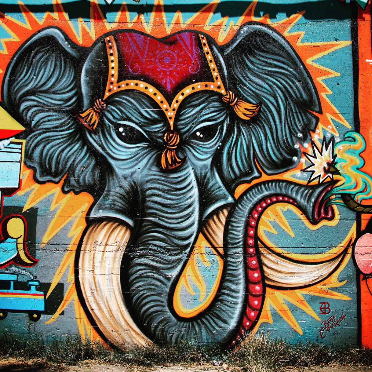 Elephant by Beth Emmerich, 23rd and S Street Alley