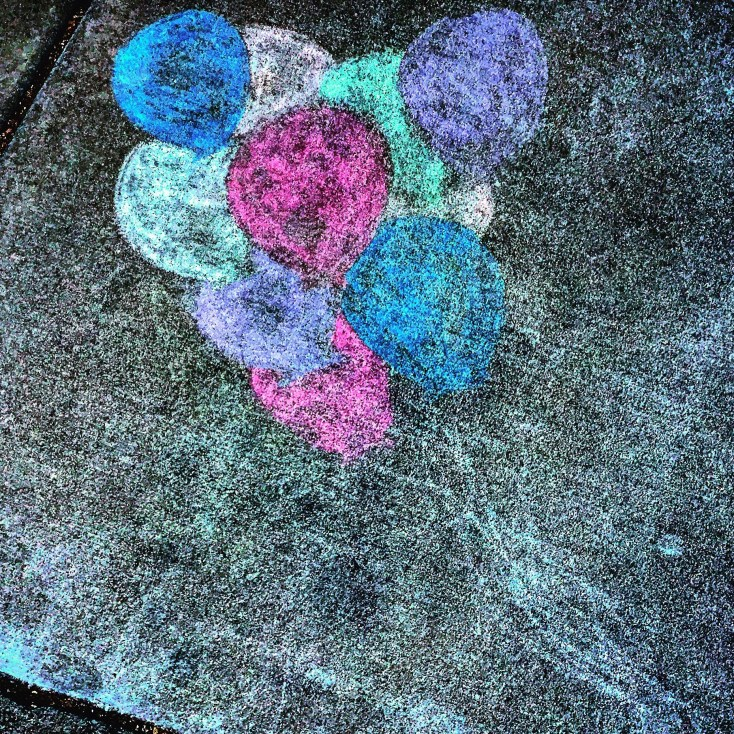 Chalk Art, J Street Sidewalk, Sacramento, CA