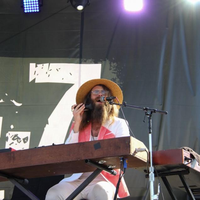 Keyboardist Zac Clark of Andrew Mcmahon In The Wilderness, City of Trees, Bonney Field, Sacramento, CA. September 10, 2016. Photo Anouk Nexus
