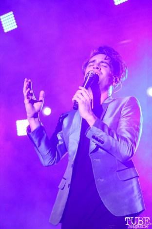 Vocalist Brendon Urie of Panic! At The Disco, City of Trees, Bonney Field, Sacramento, CA. September 10, 2016. Photo Anouk Nexus