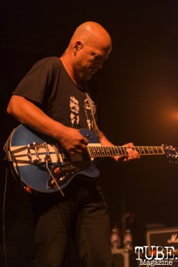 Joey Santiago of the Pixies playing lead guitar at Ace of Spades in Sacramento, CA, October 26, 2016. Photo Emma Montalbano.