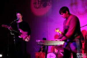 Julian Elorduy vocalist/guitarist and Gabe Merriman keyboardist/guitarist of The Rippers, Red Museum, Sacramento, CA. December 07, 2016. Photo Anouk Nexus