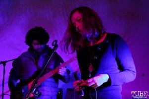 Ellen Cross vocalist and Dwain Navarro bassist of The Rippers, Red Museum, Sacramento, CA. December 07, 2016. Photo Anouk Nexus