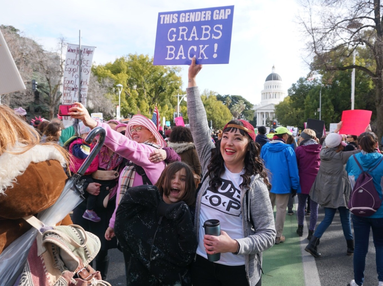 Niki Kangas, Woman's March Sacramento, January 21, 2017. Photo Joey Miller